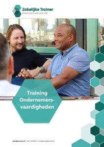Brochure Training Ondernemers-<br/>vaardigheden